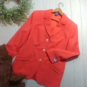 Austin Reed coral lined blazer